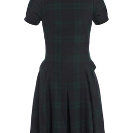 McQ ALEXANDER MCQUEEN - Tartan check wool dress