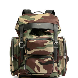 Saint Laurent Paris - Utilitarian Camo-Print Backpack, Green Multi