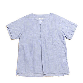 ENGINEERED GARMENTS - Med Shirt-Stripe-Lt.Blue×Fine