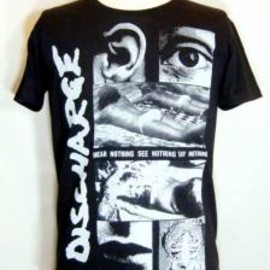 FUUDOBRAIN - DISCHARGE HEAR NOTHING T-SHIRTS (BLACK)