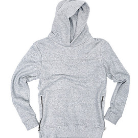 John Elliott Co. - Villain Side Zip Hoodie - Grey