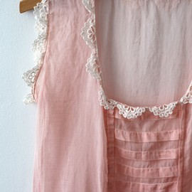 Lace scalloped trim.
