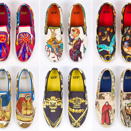 "VANS, HERMES - ""CARRE"" Custom Vans for Robert Verdi"
