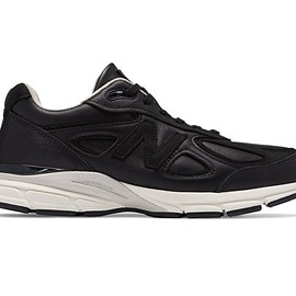 New Balance - New Balance 990v4 Made in US, Black Horween Leather