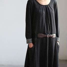 MaLieb - Lovely tunic Have Belt decoration in black