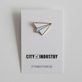 City of Industry - ENAMEL PAPER AIRPLANE PIN