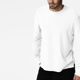 James Perse - White Long Sleeve T-Shirts