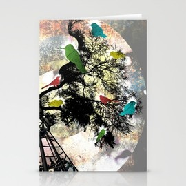 Society6 - Life in a Cage Stationery Cards