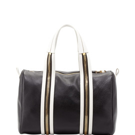 TOM FORD - Amber Pebbled Leather Medium Boston Bag