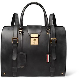 Thom Browne - Convertible Burnished-Leather Backpack