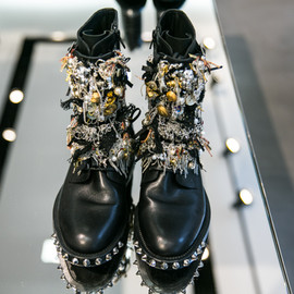 SAINT LAURENT PARIS - Fall Winter 2013 Saint Laurent Paris embellished biker boots