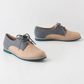 Anthropologie - Tweed-Topped Oxfords