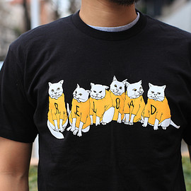 R.E.LOAD - *R.E.LOAD* cats t-shirts (black)