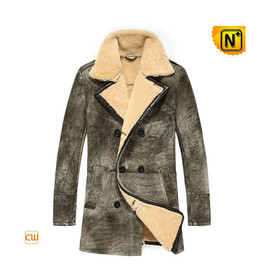 Etsy - Mens Double Breasted Shearling Coat CW878091
