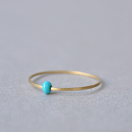 tiny polkadot stacking ring 14k