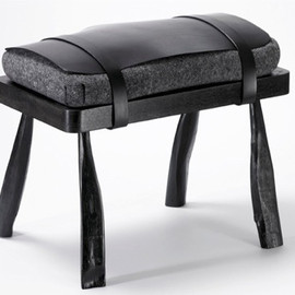 Simon Hasan - Wood and Leather Stool