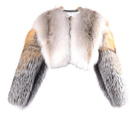 GIVENCHY - Cropped fur jacket