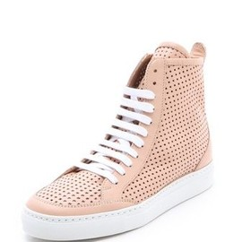 MM6 - 2013/SPRING■MM6 Maison Martin Margiela■Perforated High Top Sneakers in Skin 1