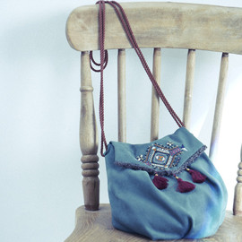 Kitica / S denim jacquard bag / ショルダーバッグ