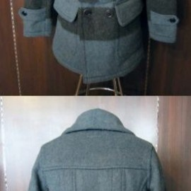 "FREEWHEELERS - ""BRITISH COLUMBIA COAT""-TURQUOISE×CHARCOAL"
