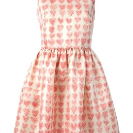 RED VALENTINO - heart print dress