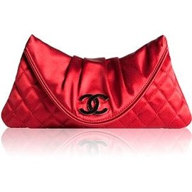 CHANEL - Quilted Satin Moon Clutch