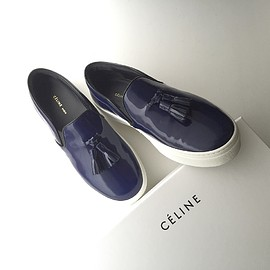 CELINE - slip on sneaker with tassel