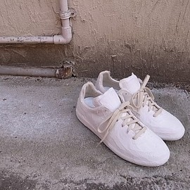 Maison Margiela - REPLICA ARTISANAL handmade chalk effect german trainer
