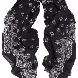 SAINT LAURENT - SS2015 Paisley-print cashmere and silk-blend scarf