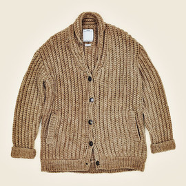 visvim - CROCHET CARDIGAN FR (NATURAL DYE)