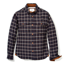 White Mountaineering - COTTON NAPPED WINDOWPANE CHECK BREAST POCKET SHIRT