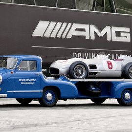 "Mercedes-Benz - ""The Blue Wonder"" custom built car transporter 1955"