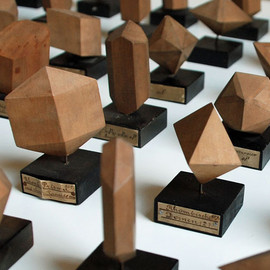Wooden crystal models