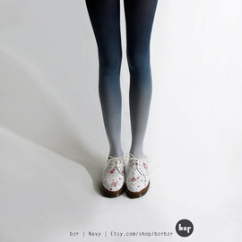 BZRBZR - Ombre Tights - Navy
