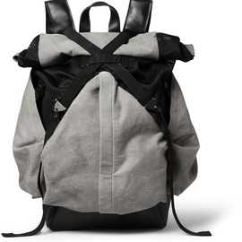 CHRISTOPHER RAEBURN - ARUCK LEATHER AND CANVAS BACKPACK
