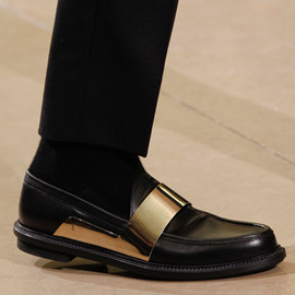 Yves Saint Laurent - Metal-Strapped Leather Loafers