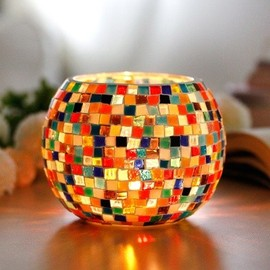 Handmade Original Glass Mosaic Design Candle Holder-Dream-Lingering Childhood - hallomall
