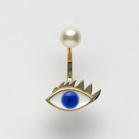 Delfina Delettrez - Eye And Pearl Single Earring