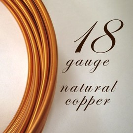 Luulla - 21 feet of 18 gauge Natural copper wire