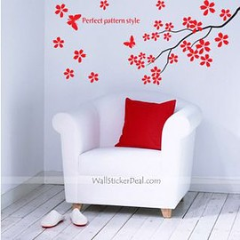 wallstickerdeal.com - Perfer Pattern Style Branches with Butterfly Wall Stickers