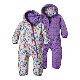 patagonia - Baby Reversible Puff-Ball Bunting - Native Bloom: Tundra Purple NVTP