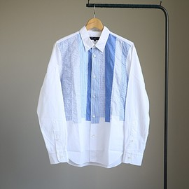 COMME des GARCONS HOMME - P/W Long Sleeve Shirt #white mix