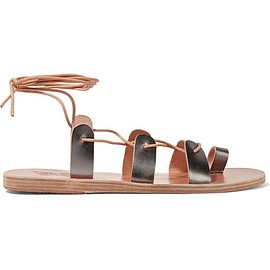 Ancient Greek Sandals - Alcyone lace-up metallic leather sandals
