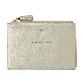 ANYA HINDMARCH - Loose Pocket Small Girlie Stuff - Pale Gold