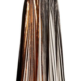PROENZA SCHOULER - SS2014 Copper Foil Print Pleated Cloque Pleated Long Skirt