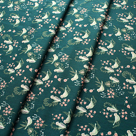 Art Gallery Fabrics - Hello, Ollie Feathered Fellow Lush / Organic