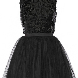 RED Valentino - Embellished silk-georgette and point d'esprit mini dress