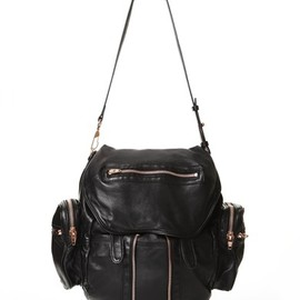 ALEXANDER WANG - READY TO WEAR WOMEN'S MARTI BACKPACK BLACK WITH ROSE GOLD/BLACK (13万6500円/旗艦店の限定商品)