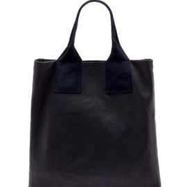 LANVIN - Leather shopping bag