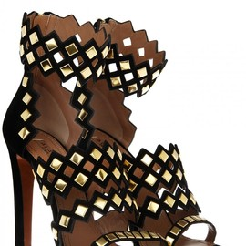 AZZEDINE ALAIA - Studded suede sandals